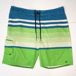 O'Neill Men's Blue & Green Board Swim Shorts